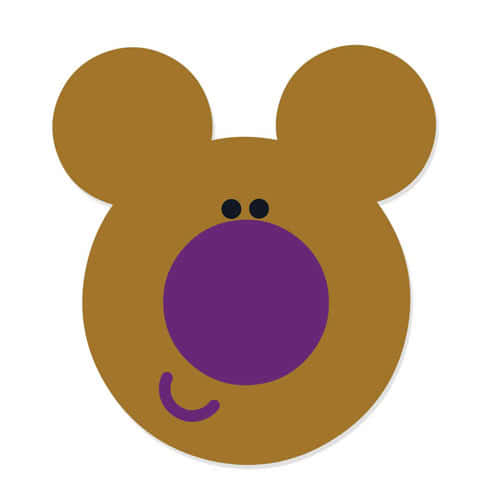 Hey Duggee Norrie Cardboard Face Mask Product Image