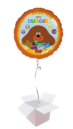 Hey Duggee Round Foil Helium Balloon - Inflated Balloon in a Box Product Image