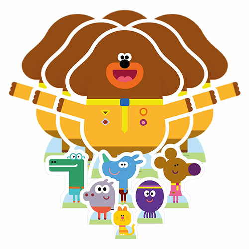 Hey Duggee Table Top Cutout Decorations - Pack of 12