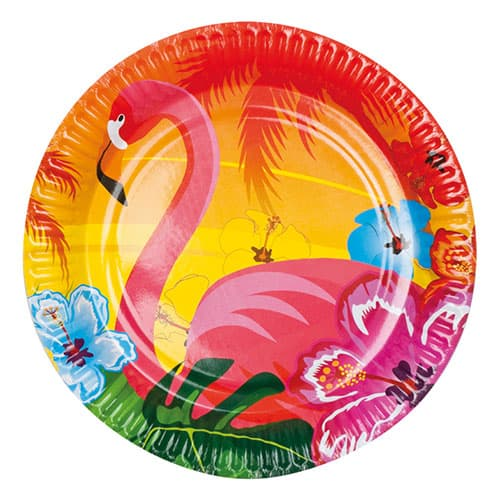 Aloha Round Paper Plates 23cm - Pack of 6 Product Image