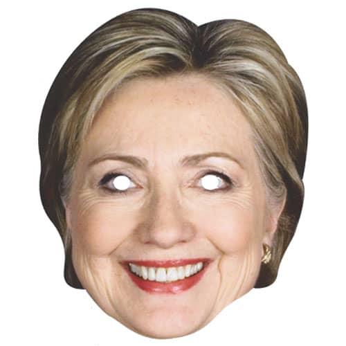 Hillary Clinton Cardboard Face Mask