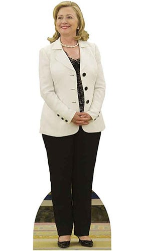 Hillary Clinton In White Jacket Lifesize Cardboard Cutout - 180 cm Product Image