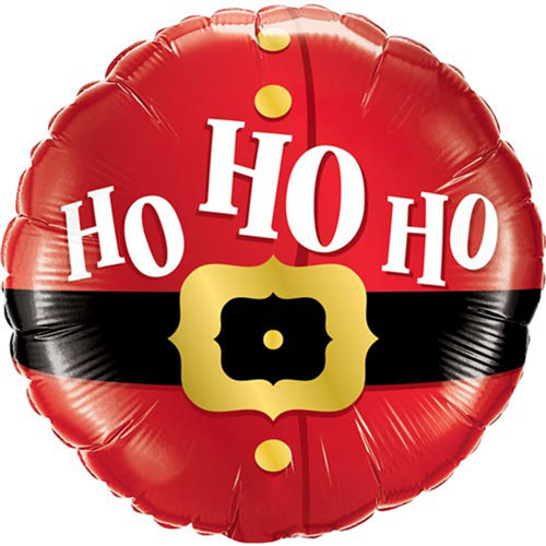 Ho Ho Ho Christmas Round Foil Helium Qualatex Balloon 46cm / 18Inch Product Image