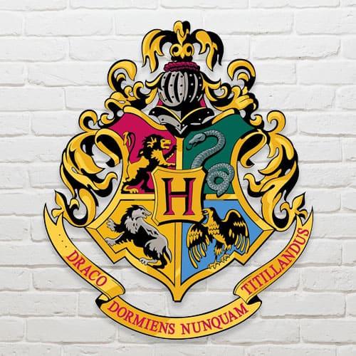 Harry Potter Wizarding World Hogwarts Crest Wall Art Cutout 61cm
