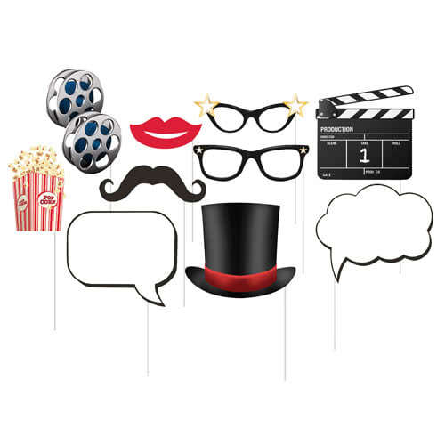 Hollywood Photo Booth Props - Pack of 10 Product Image