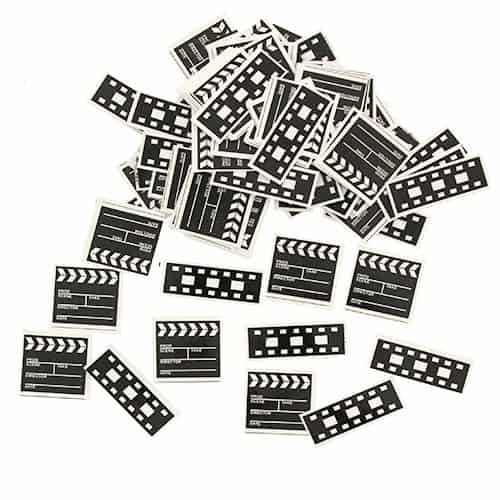 Hollywood Themed Clapperboard and Filmstrip Printed Table Confetti - 14 Grams Product Image