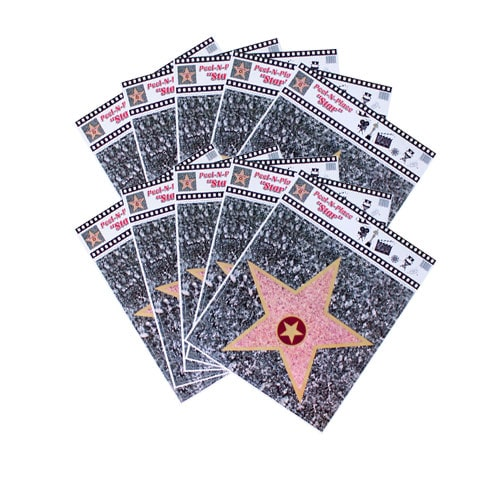 Hollywood Walk of Fame Star Peel And Place Floor Stickers - Pack of 10