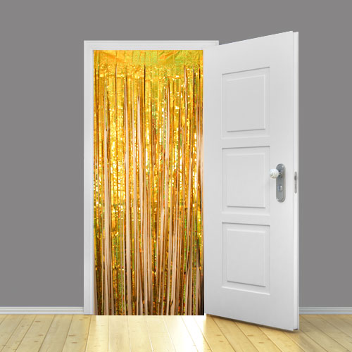 Holographic Gold Metallic Shimmer Curtain 92 x 244cm - Pack of 10