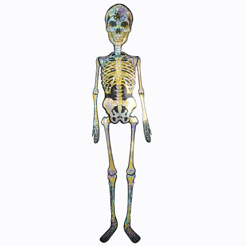 Halloween Holographic Skeleton Hanging Decoration 150cm Product Image
