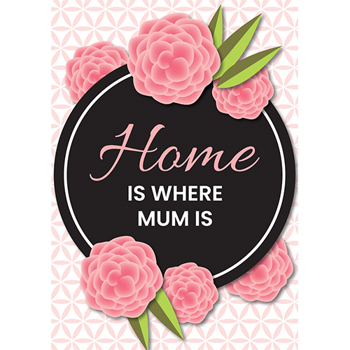 Home Is Where Mum Is Mother's Day A3 Poster PVC Party Sign Decoration 42cm x 30cm Product Gallery Image