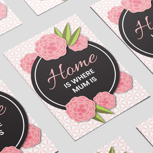 Home Is Where Mum Is Mother's Day A3 Poster PVC Party Sign Decoration 42cm x 30cm Product Image