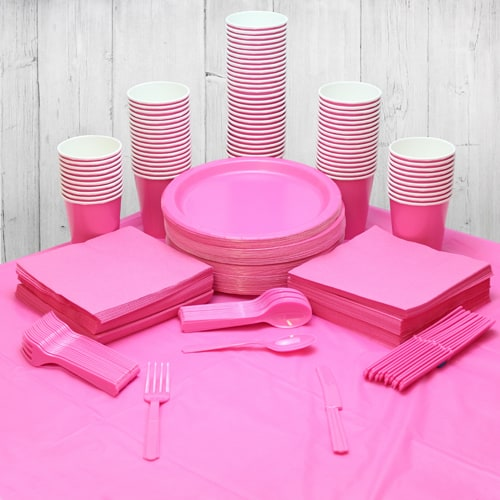 Hot Pink 90 Person Party Pack