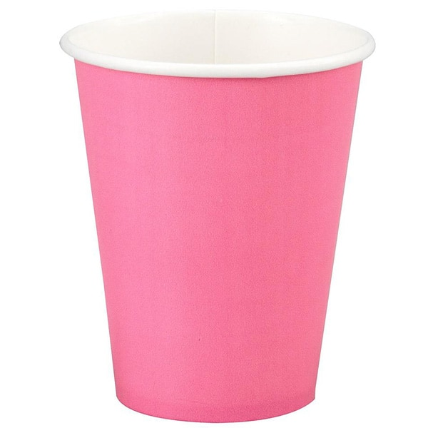 Hot Pink Paper Cups 270ml - Pack of 14