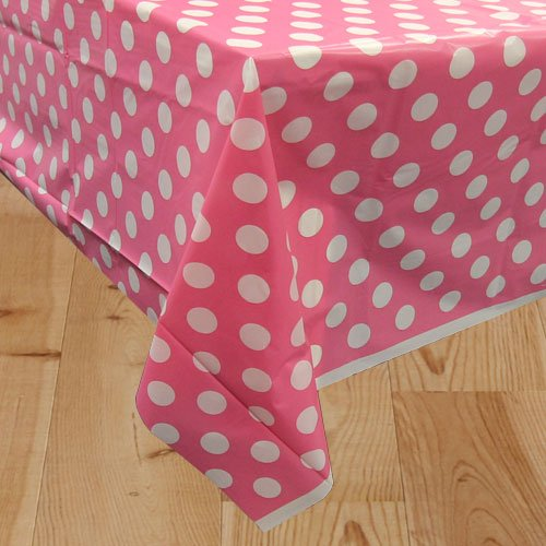 Hot Pink Decorative Dots Plastic Tablecover 274cm x 137cm Bundle Product Image