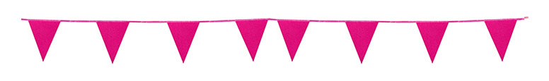 Hot Pink Glitter Cardboard Pennant Bunting 6m