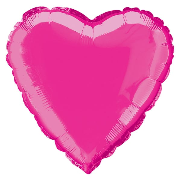 Hot Pink Heart Foil Helium Balloon 46cm / 18Inch
