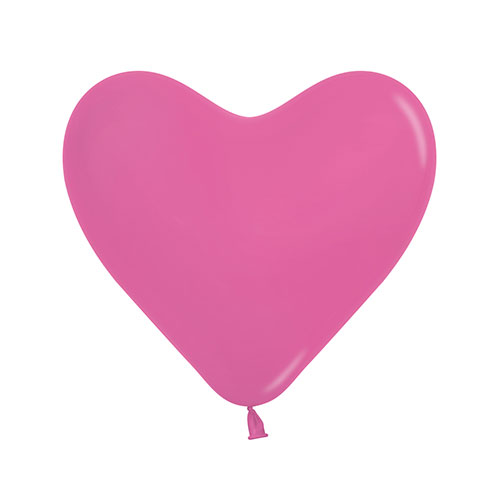 Hot Pink Heart Shape Biodegradable Mini Latex Balloons 15cm / 6 in - Pack of 100 Product Image