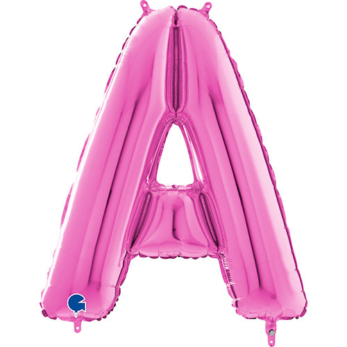 Hot Pink Letter A Helium Foil Giant Balloon 66cm / 26 in