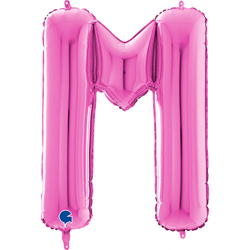 Hot Pink Letter M Helium Foil Giant Balloon 66cm / 26 in Product Image