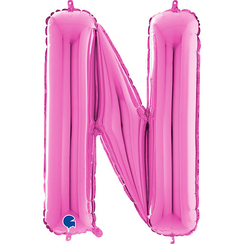 Hot Pink Letter N Helium Foil Giant Balloon 66cm / 26 in Product Image