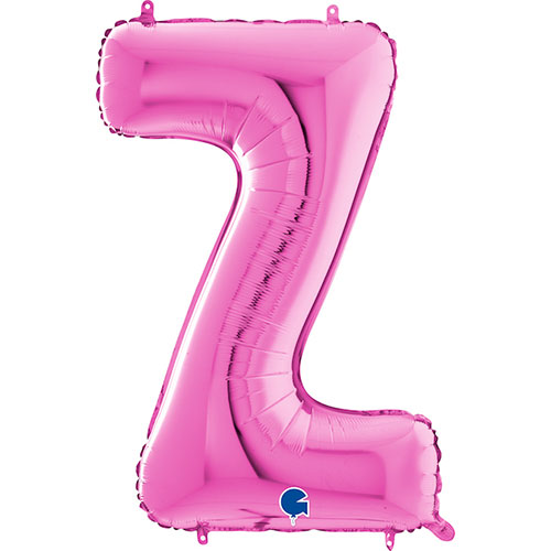 Hot Pink Letter Z Helium Foil Giant Balloon 66cm / 26 in Product Image