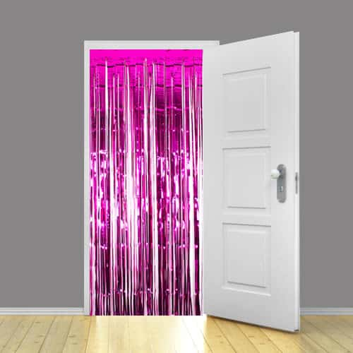 Hot Pink Metallic Shimmer Curtain - 92 x 244cm Pack Of 5 Product Image