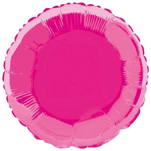 Hot Pink Round Foil Helium Balloon 46cm / 18Inch