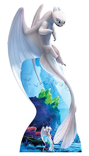 How To Train Your Dragon 3 Light Fury White Dragon Lifesize Cardboard Cutout 194cm Product Image