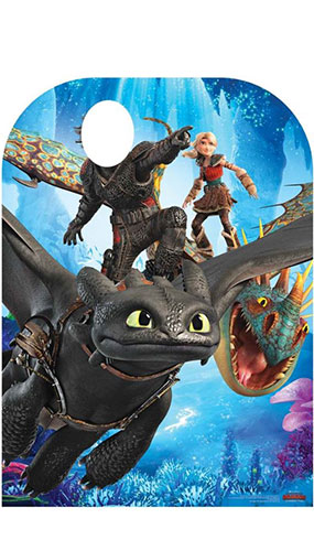 How to Train Your Dragon 3 Toothless Hiccup Stormfly Astrid Stand In Lifesize Cardboard Cutout 130cm