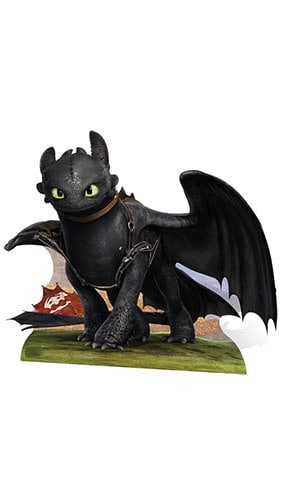 How to Train Your Dragon Toothless Dragon Lifesize Cardboard Cutout - 100cm Product Image