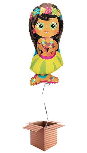 Hula Girl Helium Foil Giant Balloon - Inflated Balloon in a Box Product Image