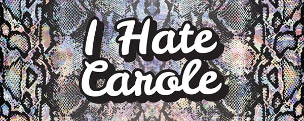 I Hate Carole Snake Print Tiger Kingdom PVC Party Sign Decoration 60cm x 25cm Product Image