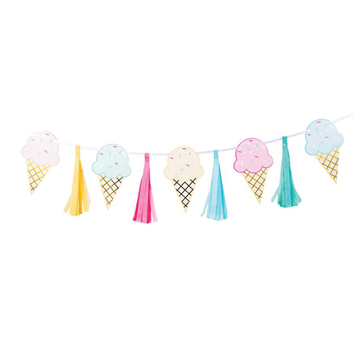 Ice Cream Party With Tassel Garland Decoration 198cm Product Image