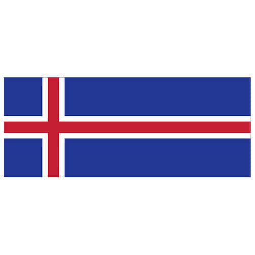 Iceland Flag PVC Party Sign Decoration 60cm x 24cm