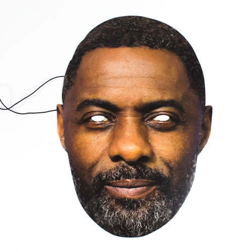 Idris Elba Cardboard Face Mask