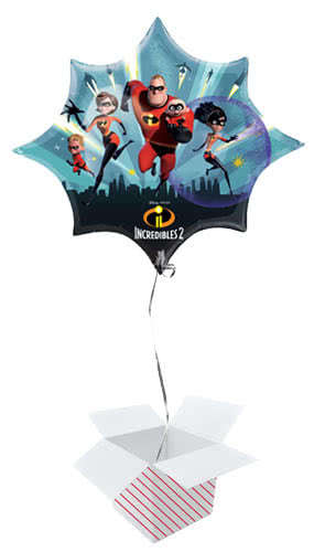 Incredibles 2 Helium Foil Giant Balloon - Inflated Balloon in a Box Product Image