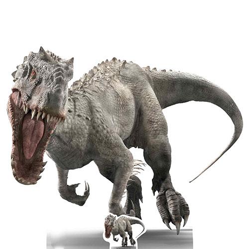 Indominus Face On Roar Jurassic World Dinosaur Lifesize Cardboard Cutout 118cm