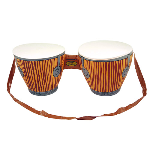 Inflatable Bongo Drums with Strap 62cm Product Image