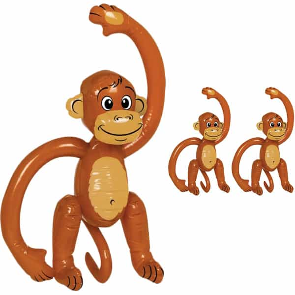Inflatable Monkey - 23 Inches / 58cm - Pack of 3 Product Image