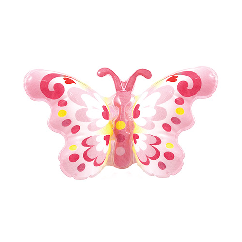 Inflatable Pink Butterfly on Wristband 25cm
