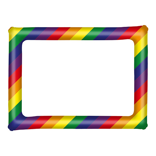 Inflatable Rainbow Picture Frame 80cm Product Image