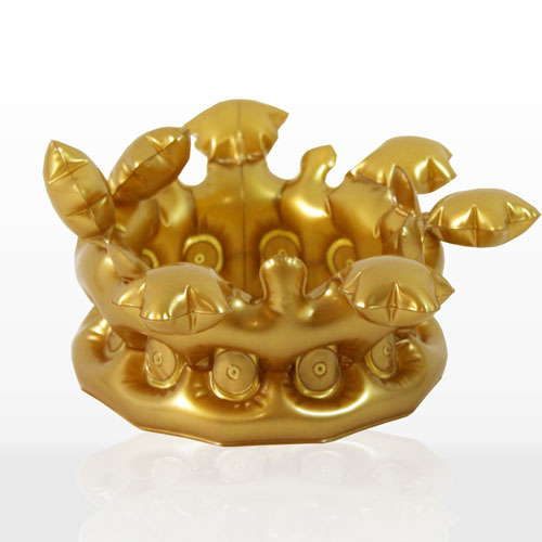Inflatable Adult Gold Crown 33cm Product Image