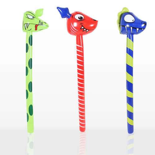 Inflatable Dinosaur Stick 118cm Assorted Designs Product Image