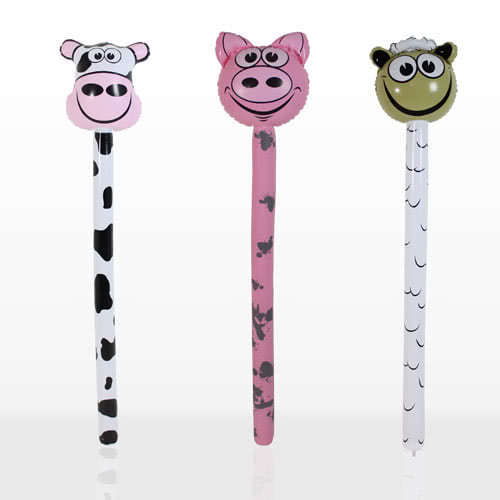 Inflatable Farm Animals Stick 118cm Assorted Designs Product Image