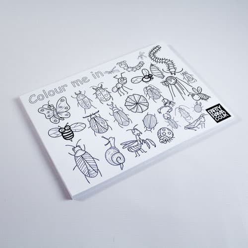 Insects Themed A4 Colouring sheet Product Image