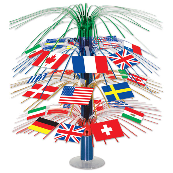 International Flags Cascade Centrepiece