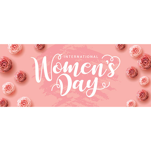 International Women's Day Roses PVC Party Sign Decoration 60cm x 25cm Product Image