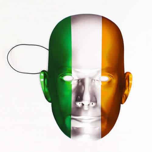 Ireland Flag Face Mask Product Image