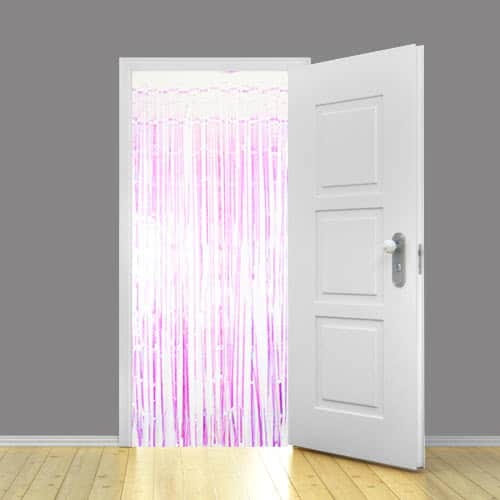 Iridescent Metallic Shimmer Curtain – 3 x 8 Ft / 91 x 244cm – Pack of 25