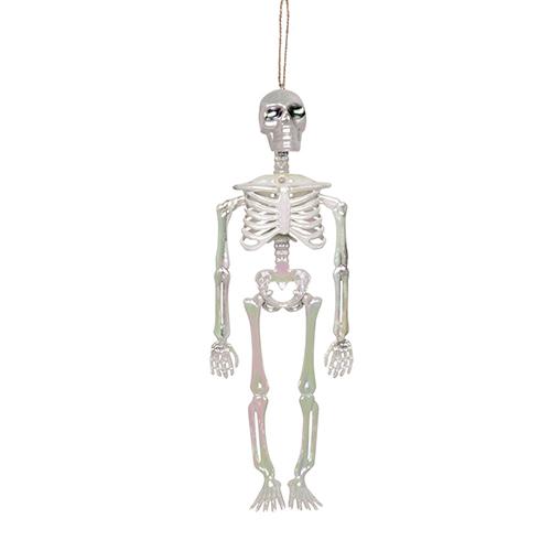 Iridescent Skeleton Halloween Hanging Prop Decoration 32cm Product Image